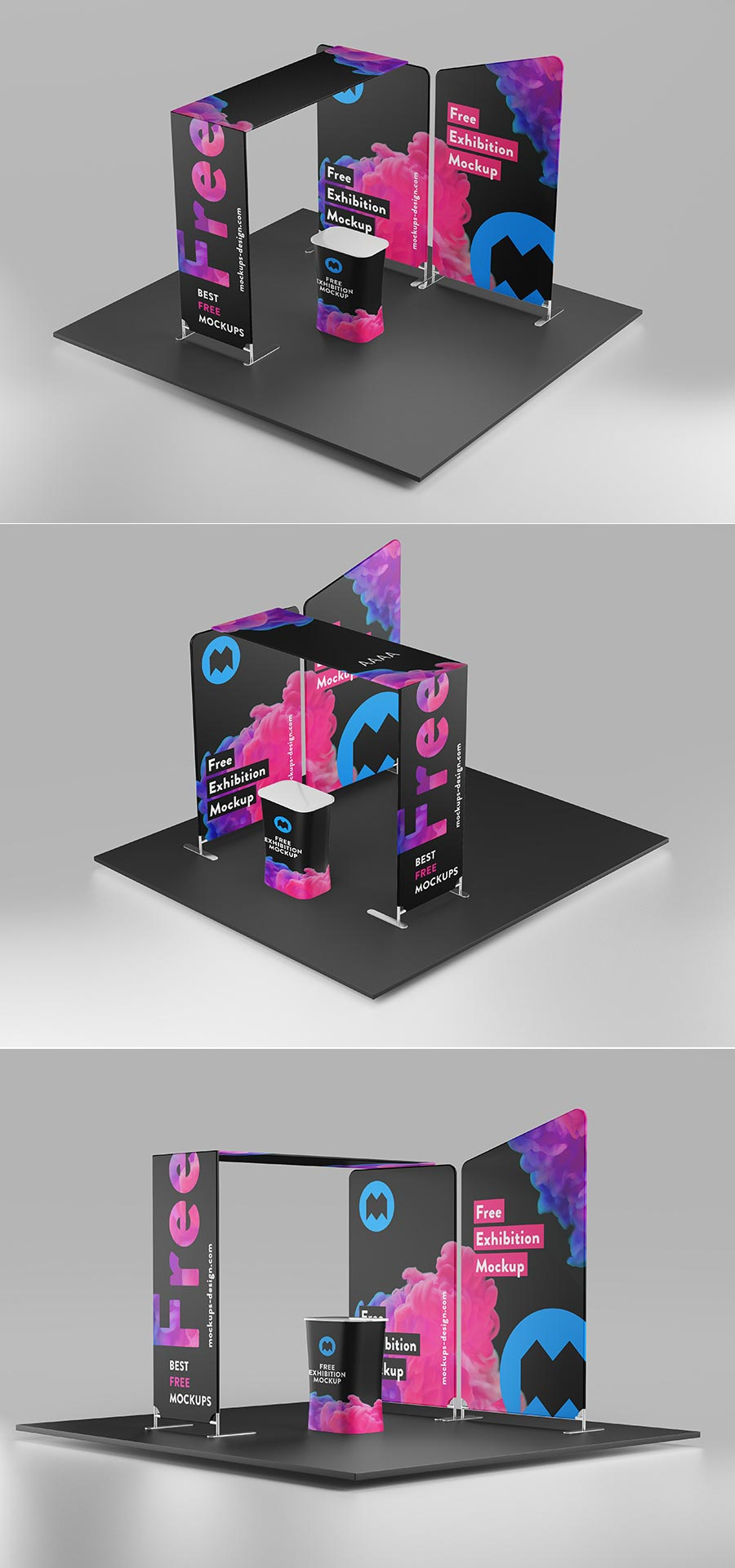 Free Exhibition Stage Mockup