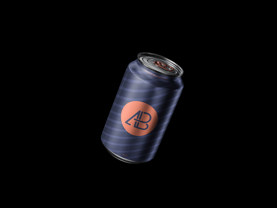 Free Floating Can Mockup