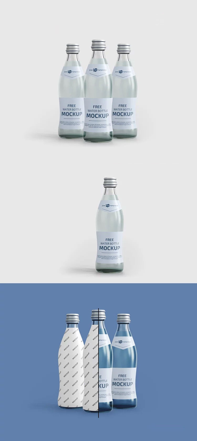 Download Free Water Bottles Mockup | Mockuptree