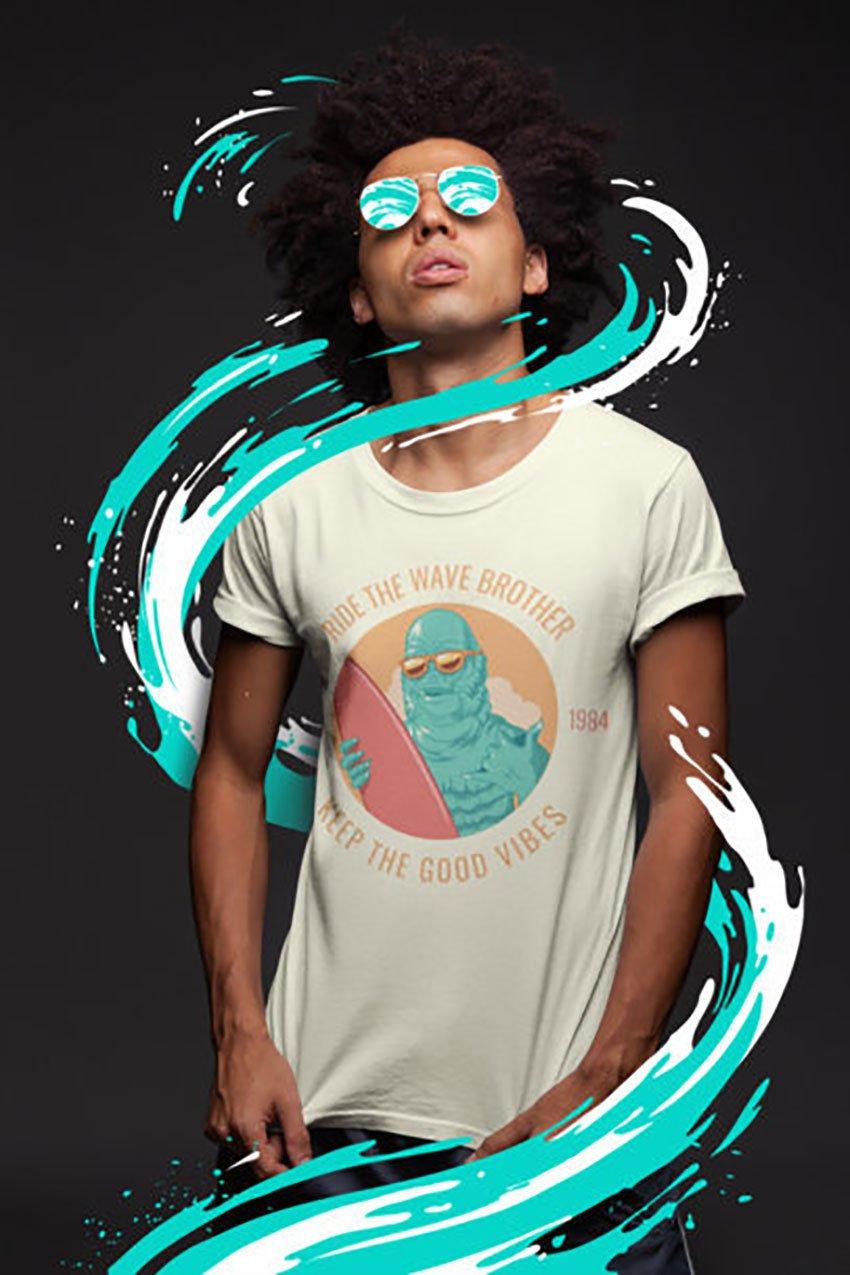 Free Man T-Shirt Mockup