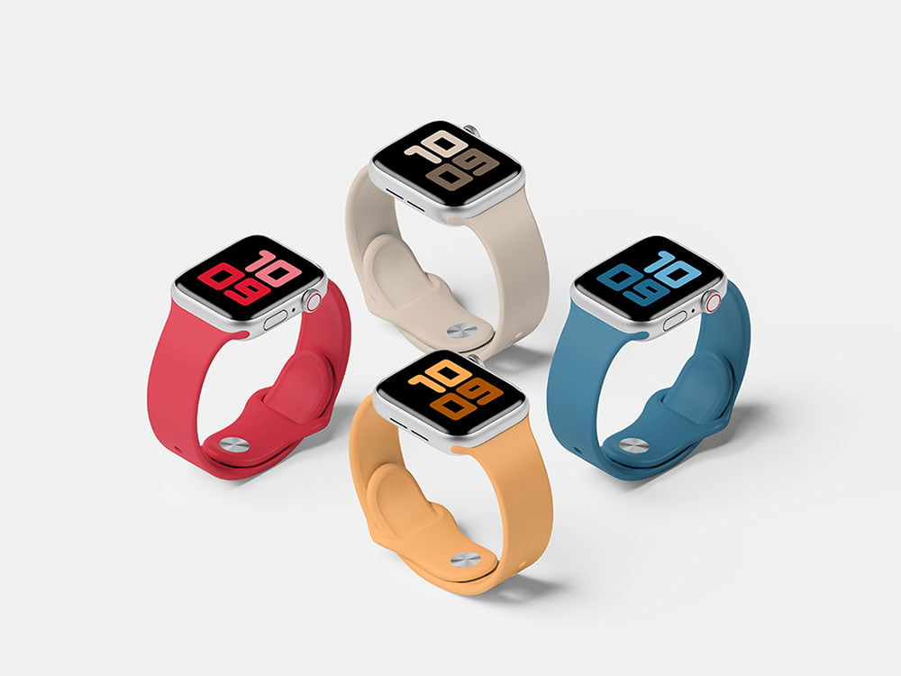 Free Apple Watch Mockup Set