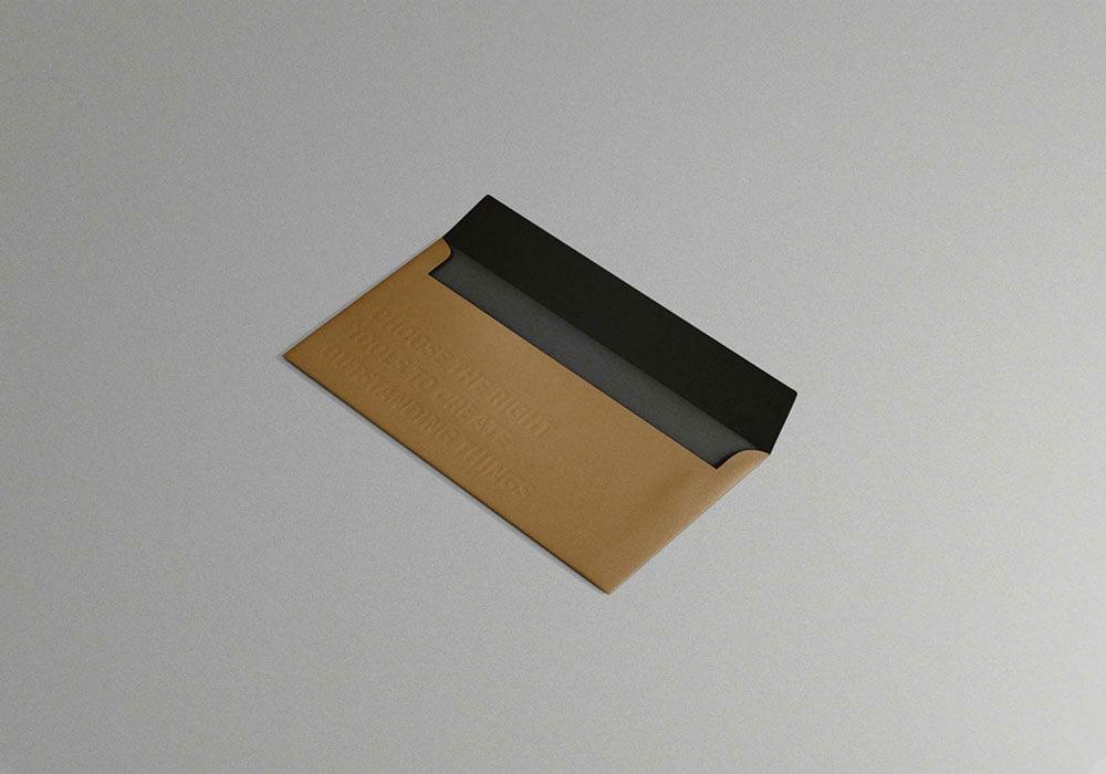 Free Square Envelope Mockup