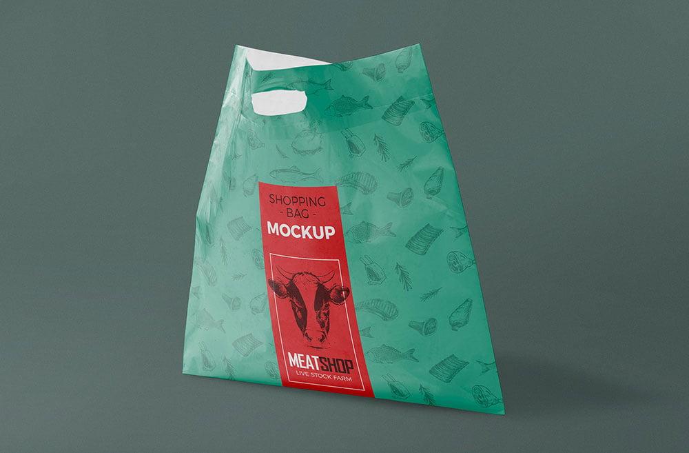 Free Plastic Poly Bag Mockup
