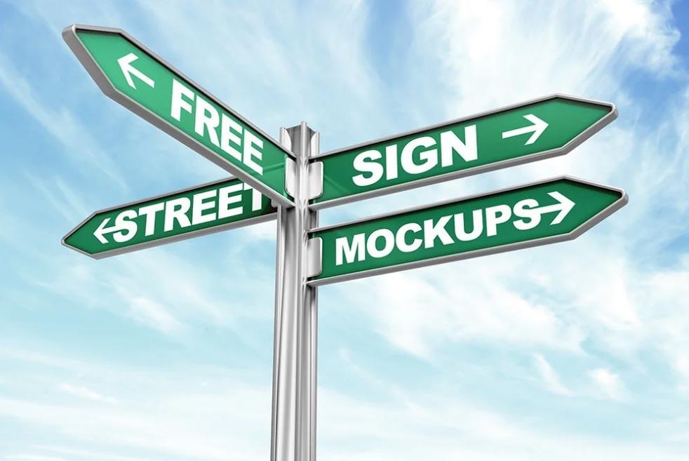 Free Street Sign Mockups