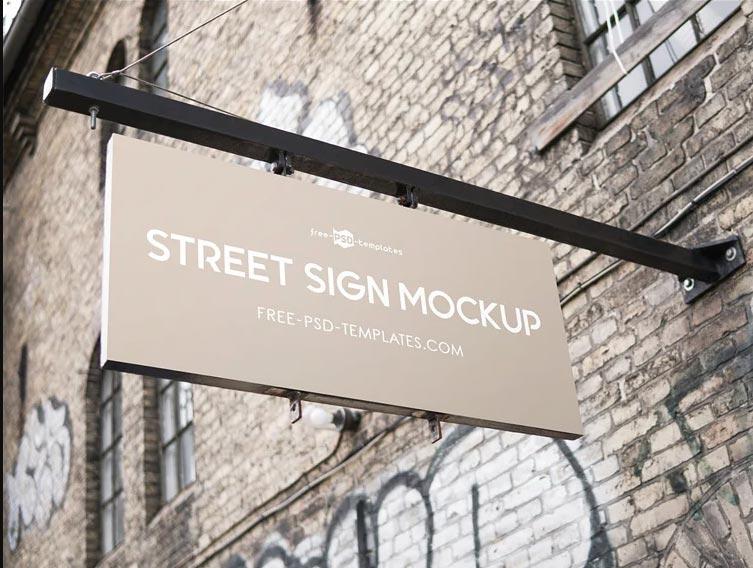 Free Restaurant Signage Mockup-www.mockuphill.com