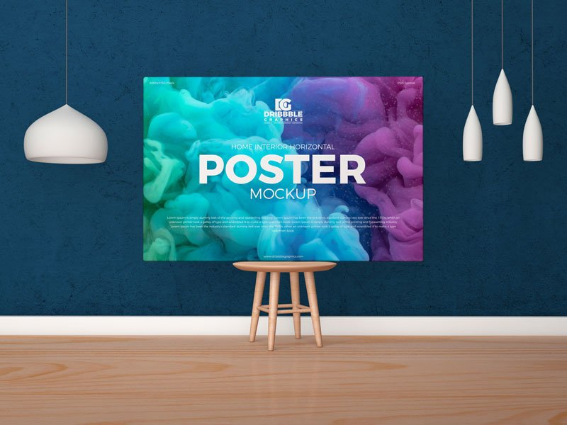 Free Canvas Poster Mockup