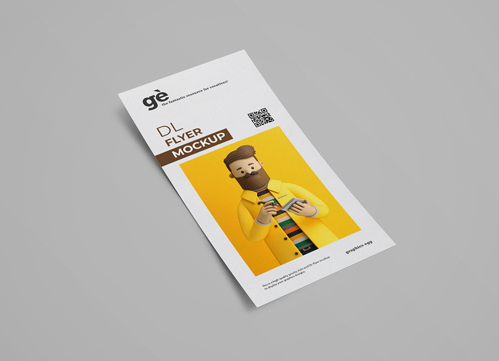 Free Simple DL Flyer Mockup