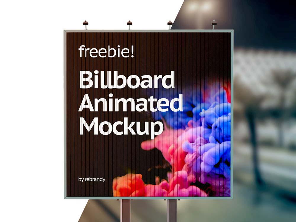 Free Animated Billboard Mockup