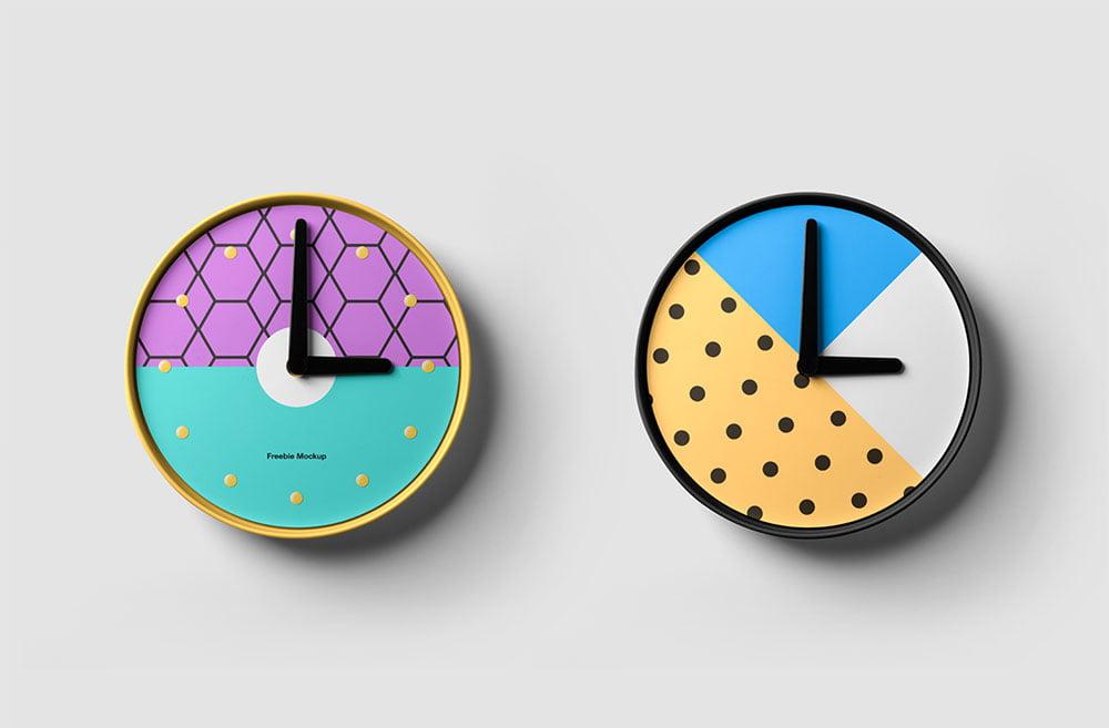 Free Clocks Mockup