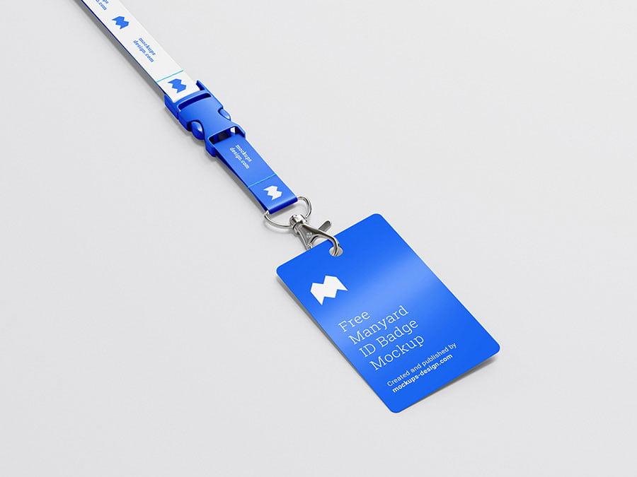 Free ID Name Badge mockup