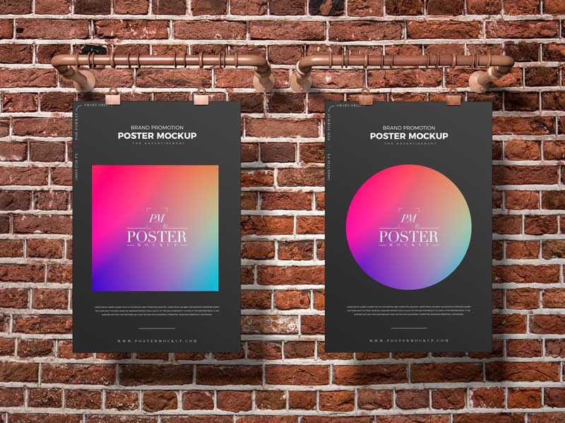 Free Brand Poster Mockup