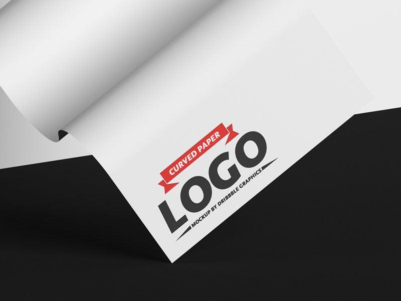 Curved-Paper-Logo-Mockup-PSD-www.mockuphill.com