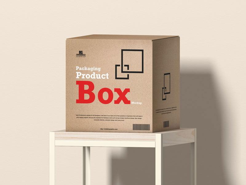 free cargo box mockup-www.mockuphill.com