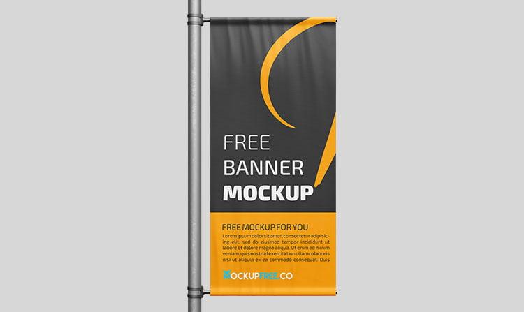 vertical outdoor banner mockup-www.mockuphill.com