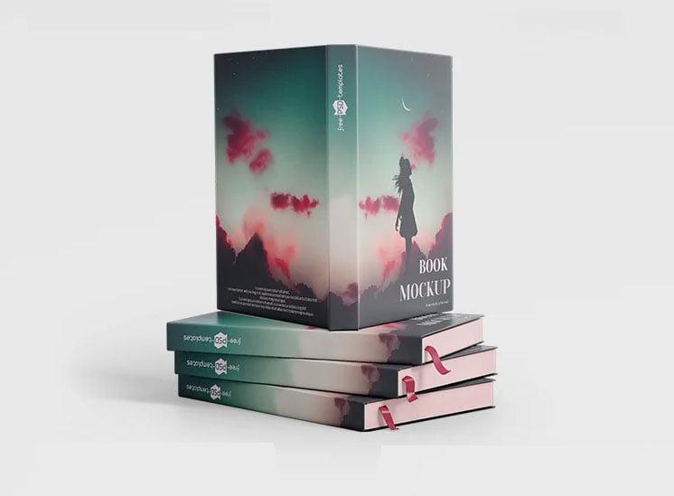Free Hardback Book Mockup