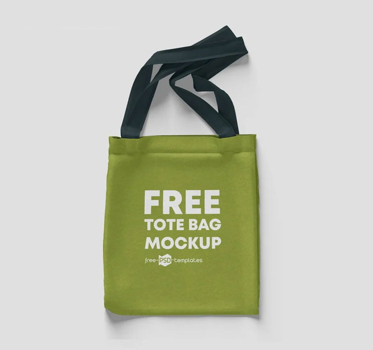 Free Tote Shopping Bag Mockup