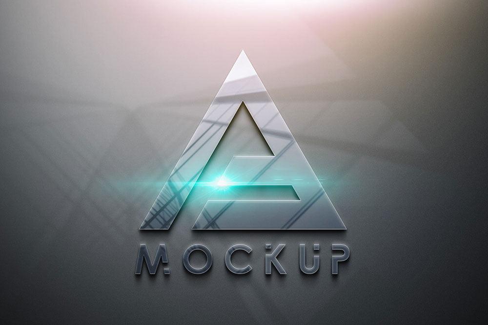 Free Glossy Logo Mockup