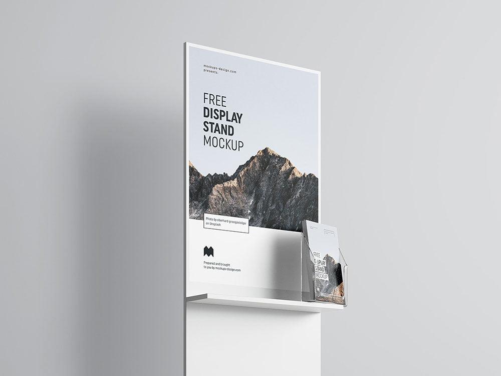Free Display Poster Mockup