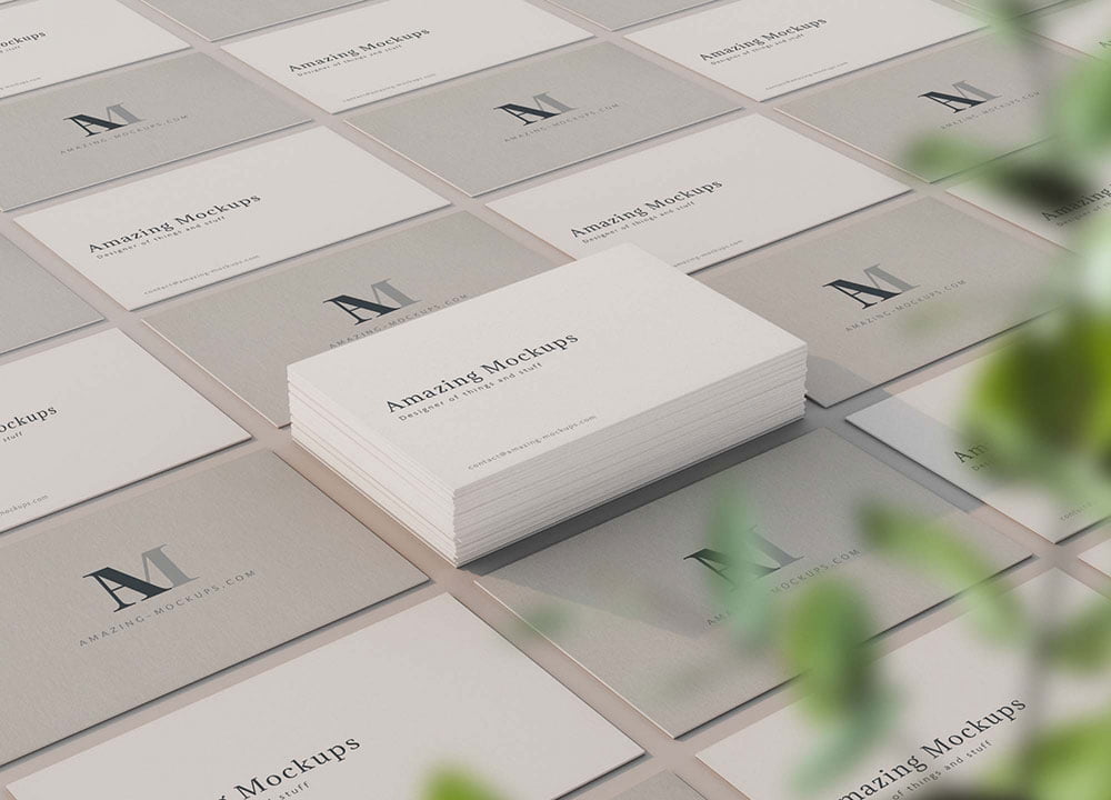 Free Elegant Business Card Mockup