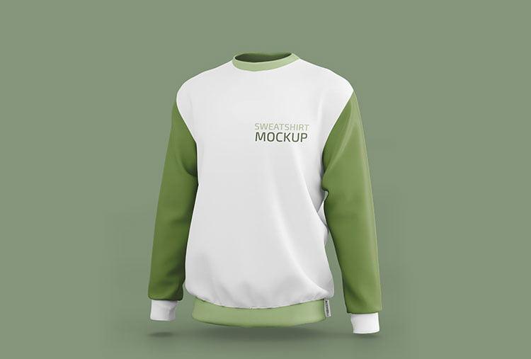 Free Sporty Sweatshirt Mockup