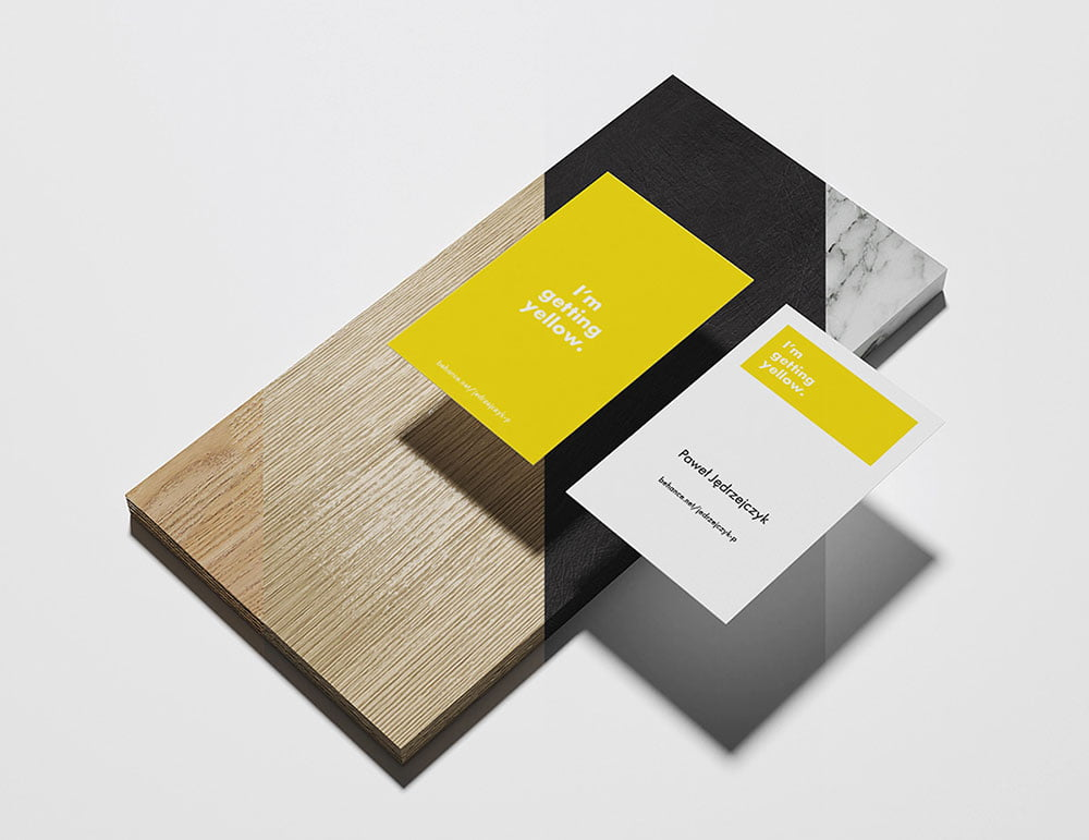 Download Free Yellow Business Card Mockup Mockuptree PSD Mockup Templates