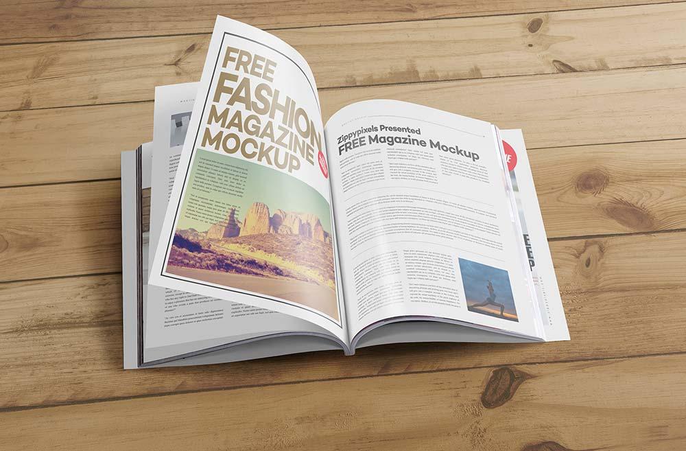 Free US Letter Magazine Mockup