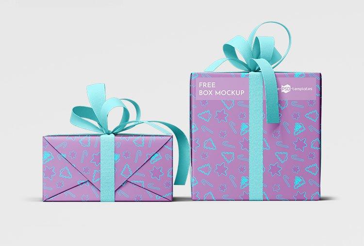 Free Gift Boxes Mockup