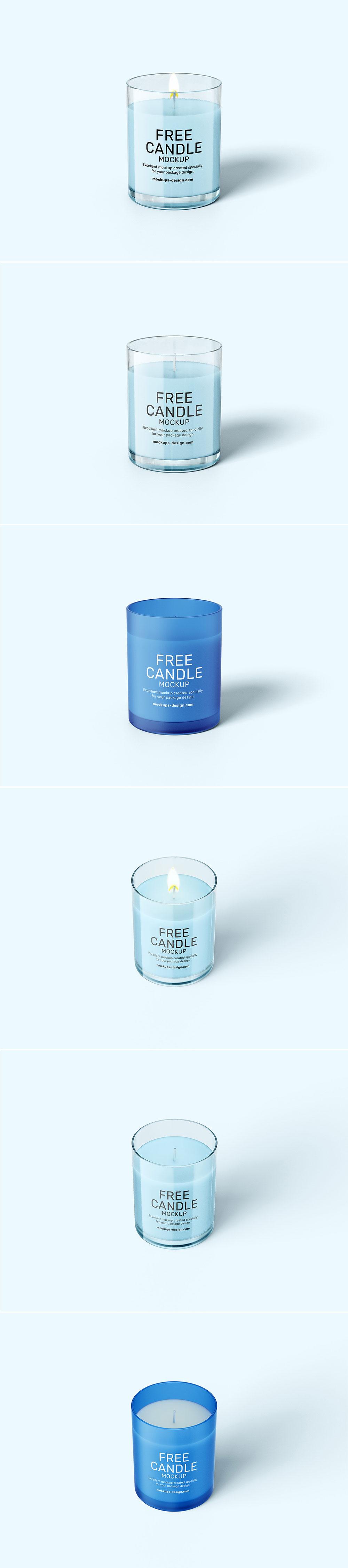 Free Candle Mockups