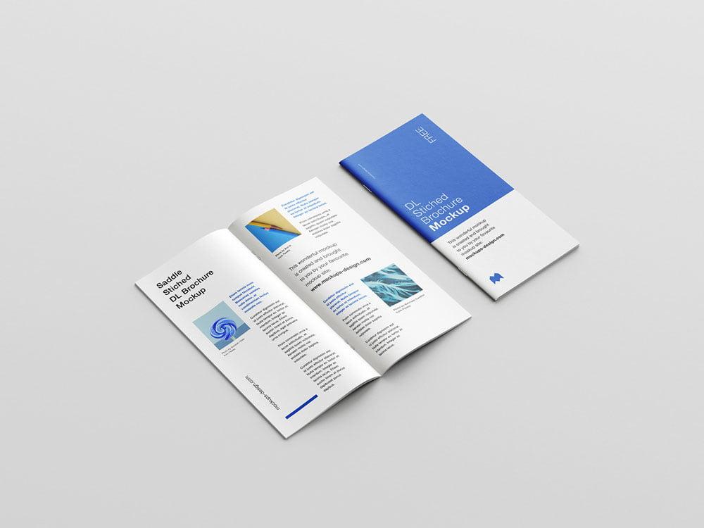 Free Stitched DL Brochure Mockup