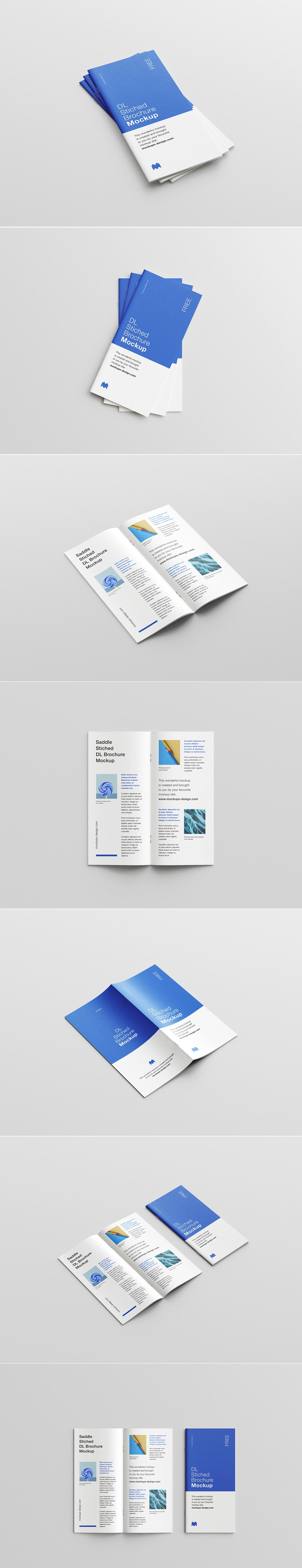 Free Stiched Brochure Mockup