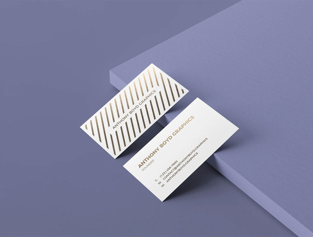 Free Minimalist Business Card Mockup