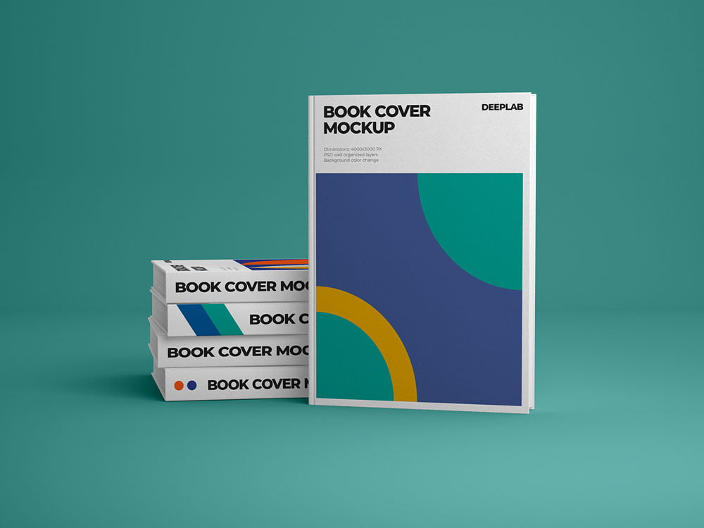 Free Vertical Hardcover Book Mockup
