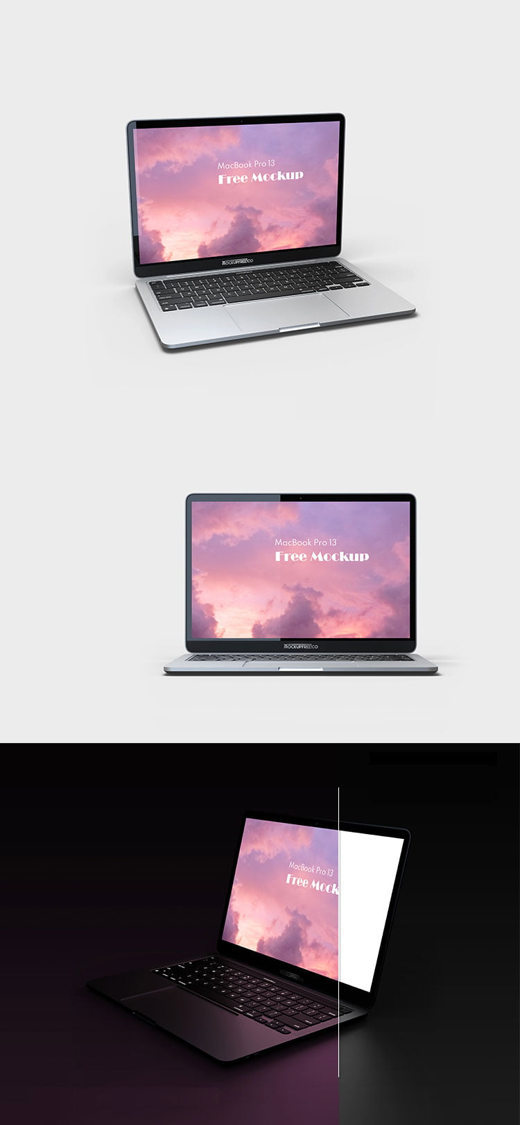 Free Opened MacBook Pro Mockup