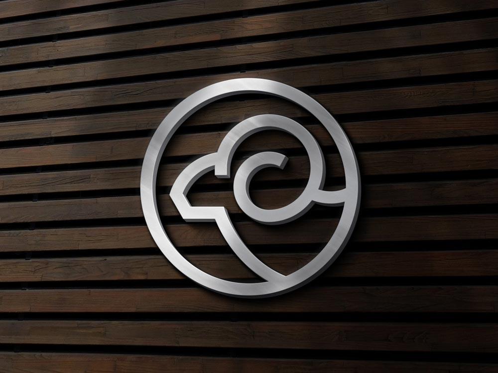 Free Silver Sign Logo Mockup