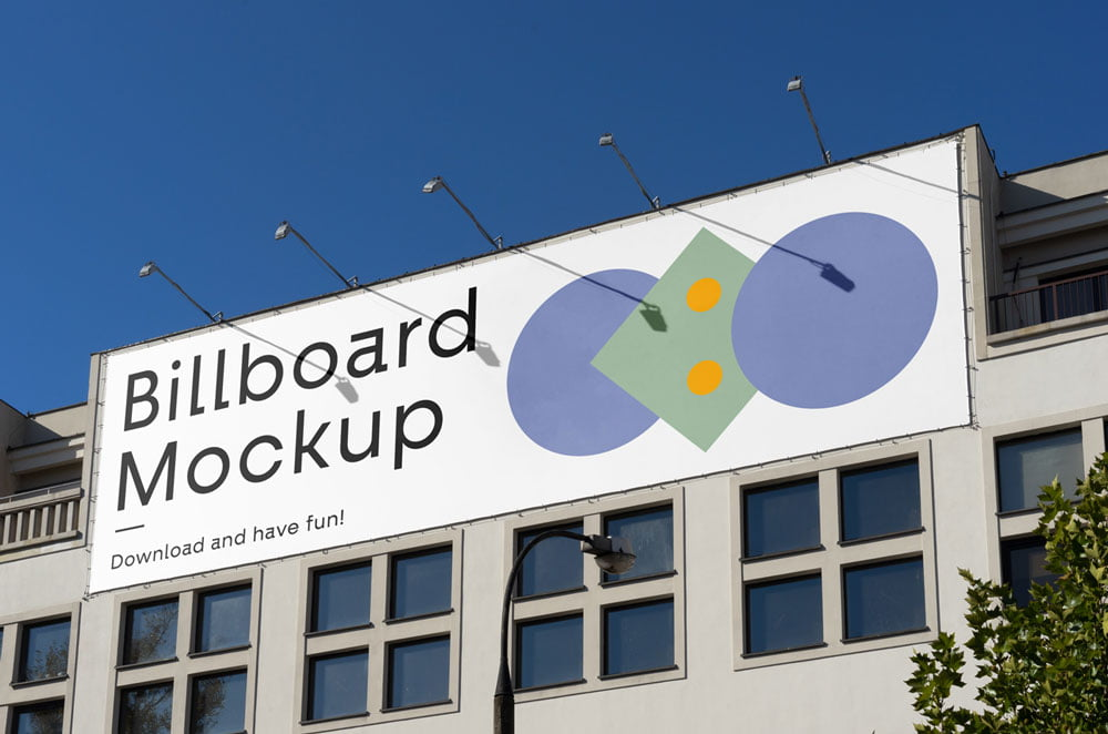 Free Building Billboard Mockup