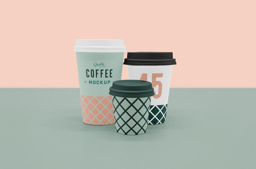 Free Coffee Cup Mockup Scene