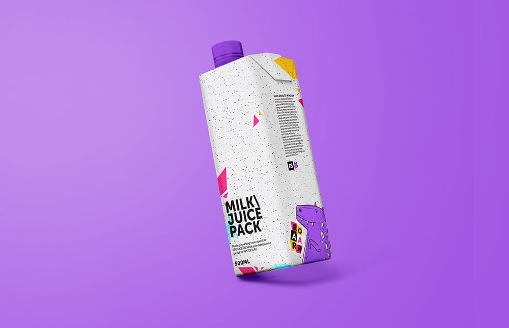 Free Juice Packaging Mockup