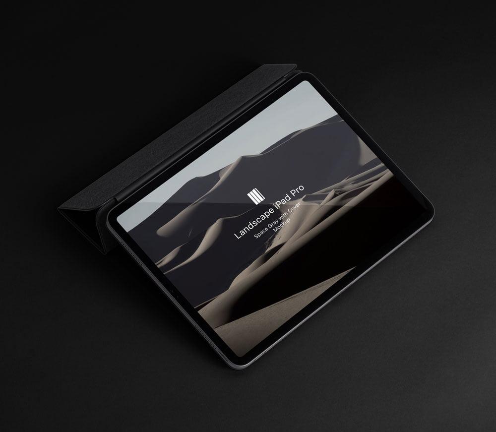 Free Landscape iPad Pro Mockup