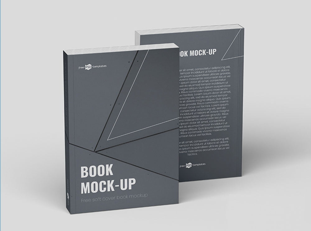 Free Soft Cover Book Mockup