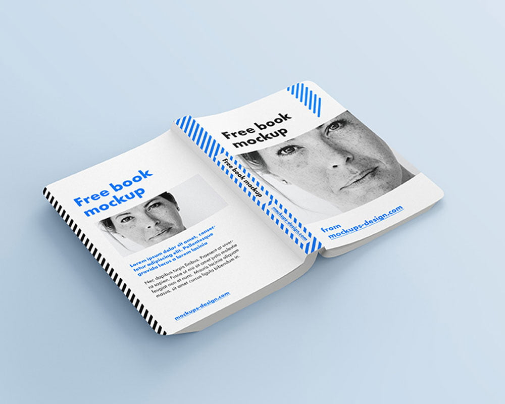 Free Rounded Book Mockup