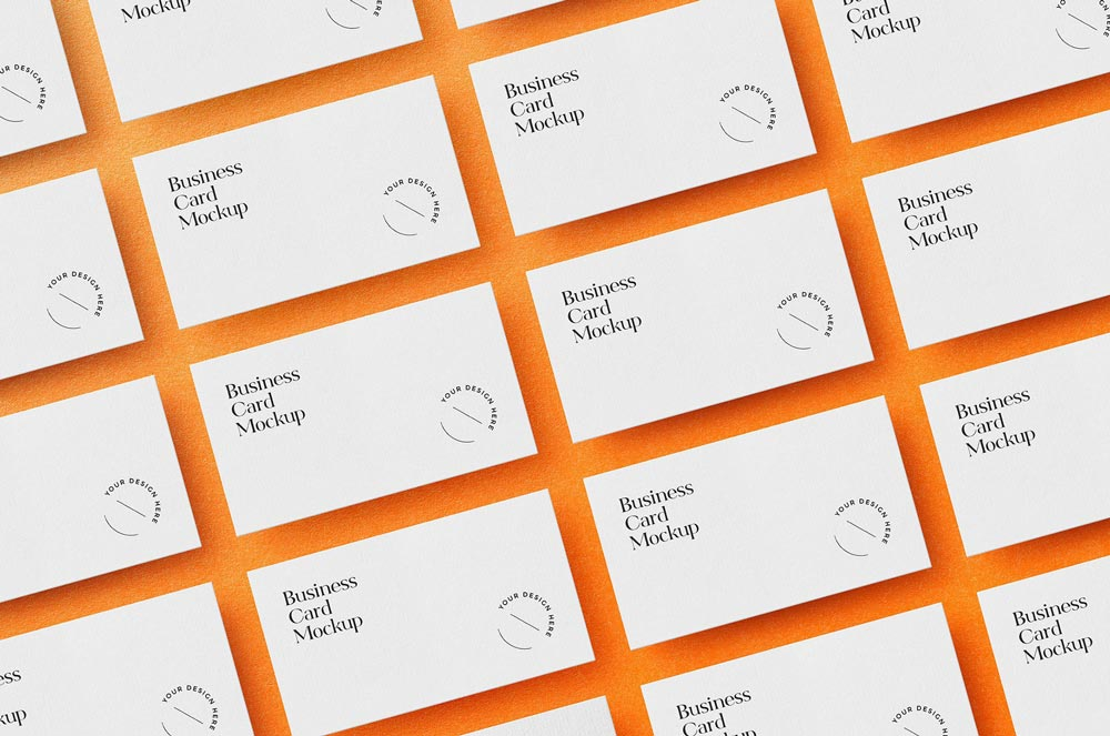 Free Laid Out Business Card Mockup