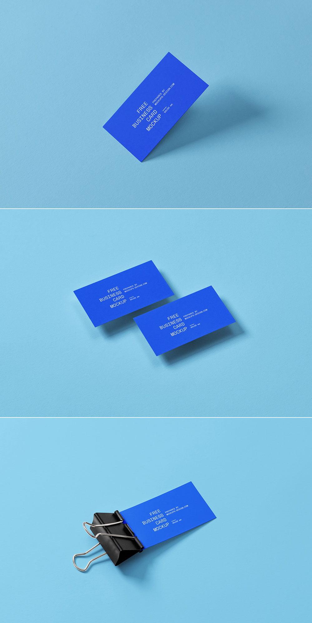Free Business Card Mockup PSD Set