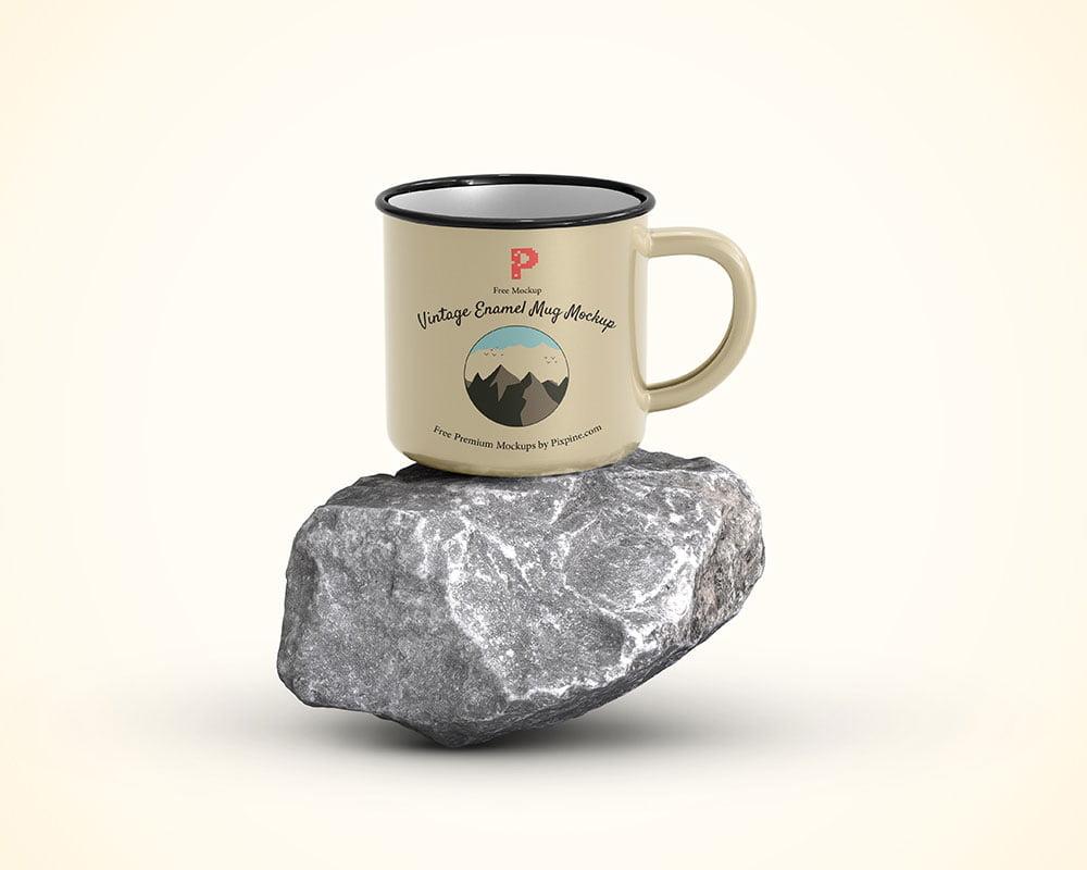 Free Enamel Mug Mockup