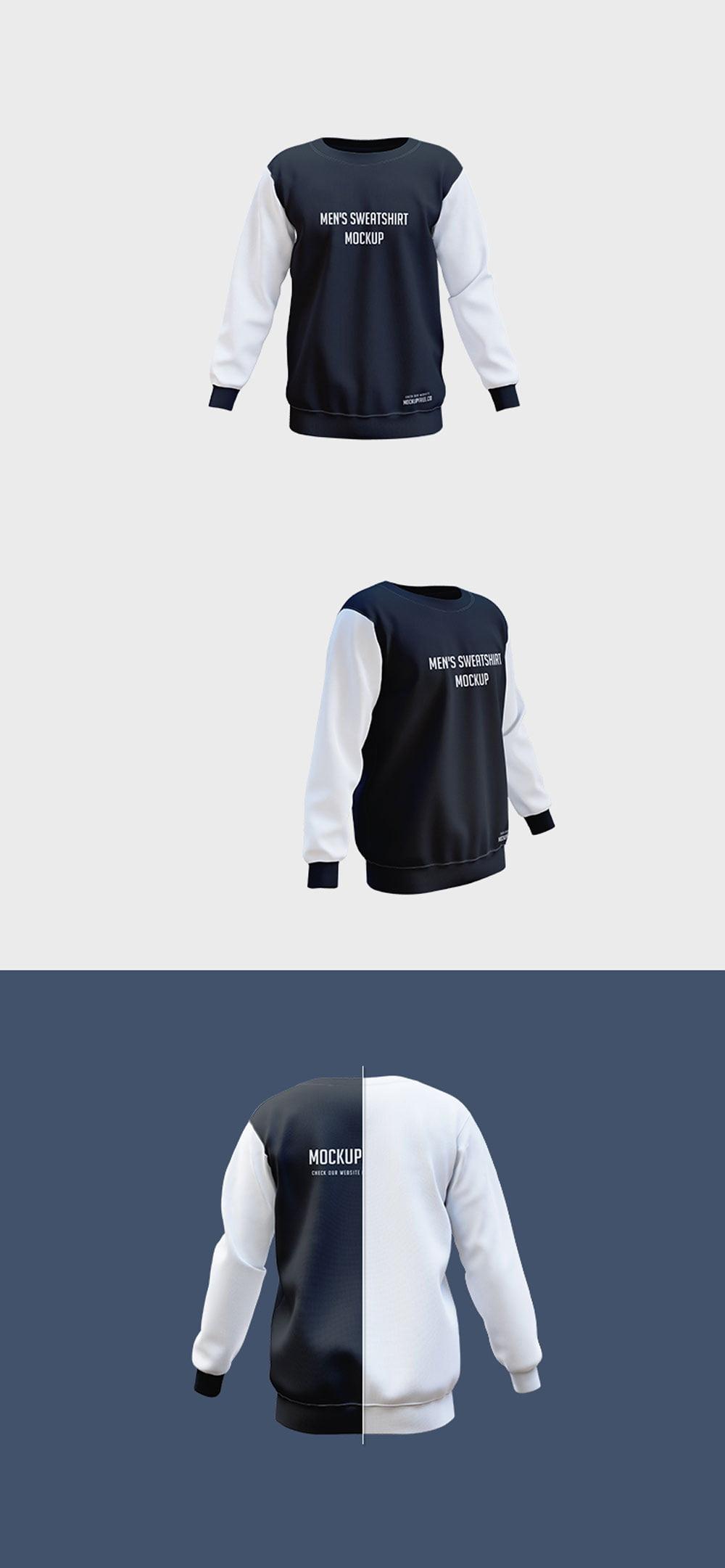 Free Men's Sweatshirt Mockup