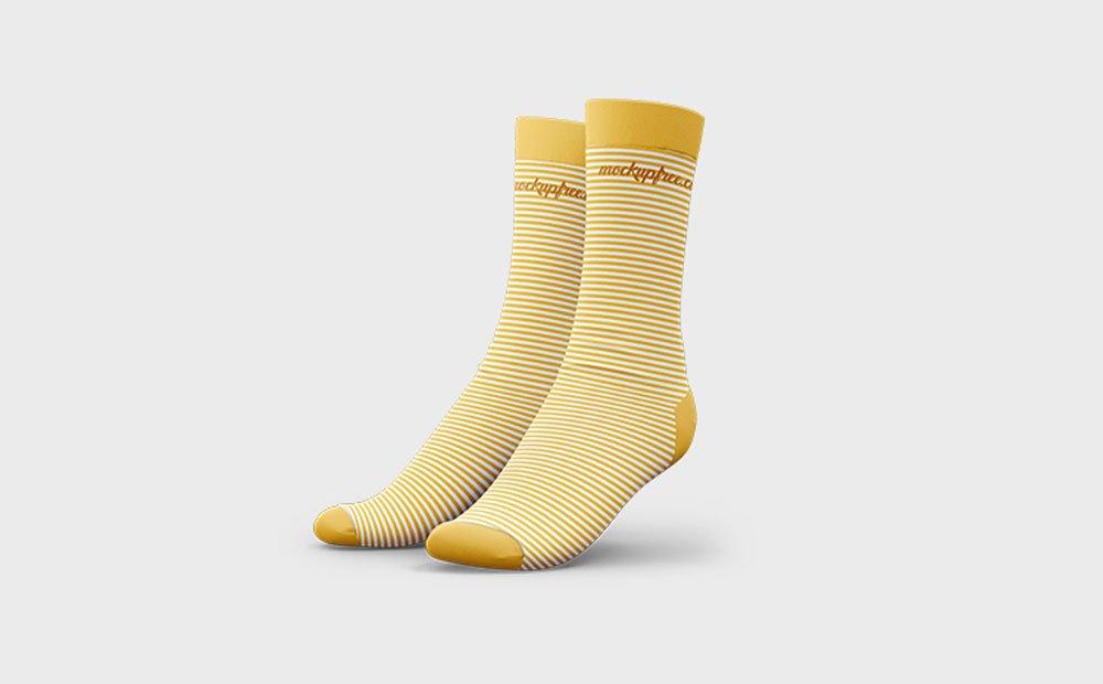 Free 3D Socks Mockup