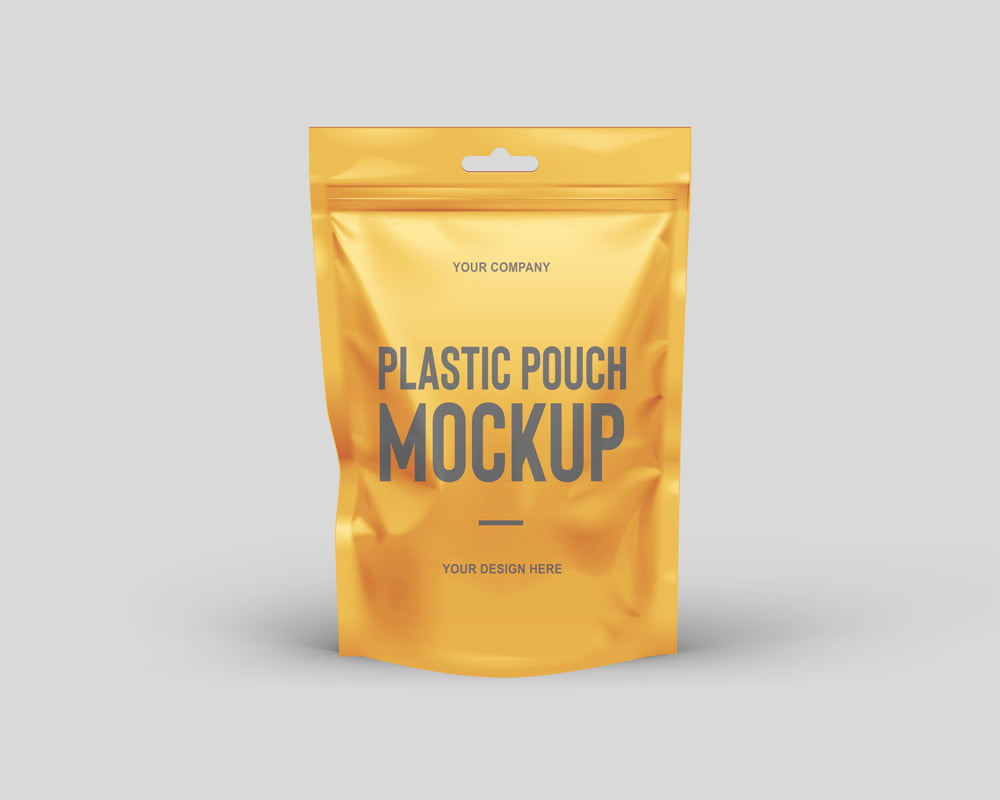 Free Plastic Pouch Mockup
